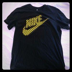 checkered Nike sz L shirt